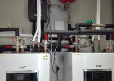 Tepelné čerpadlo IVT - technická miestnosť
