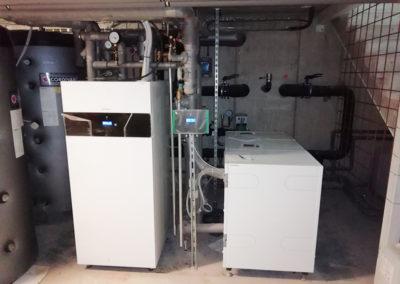 Tepelné čerpadlo - technická miestnosť